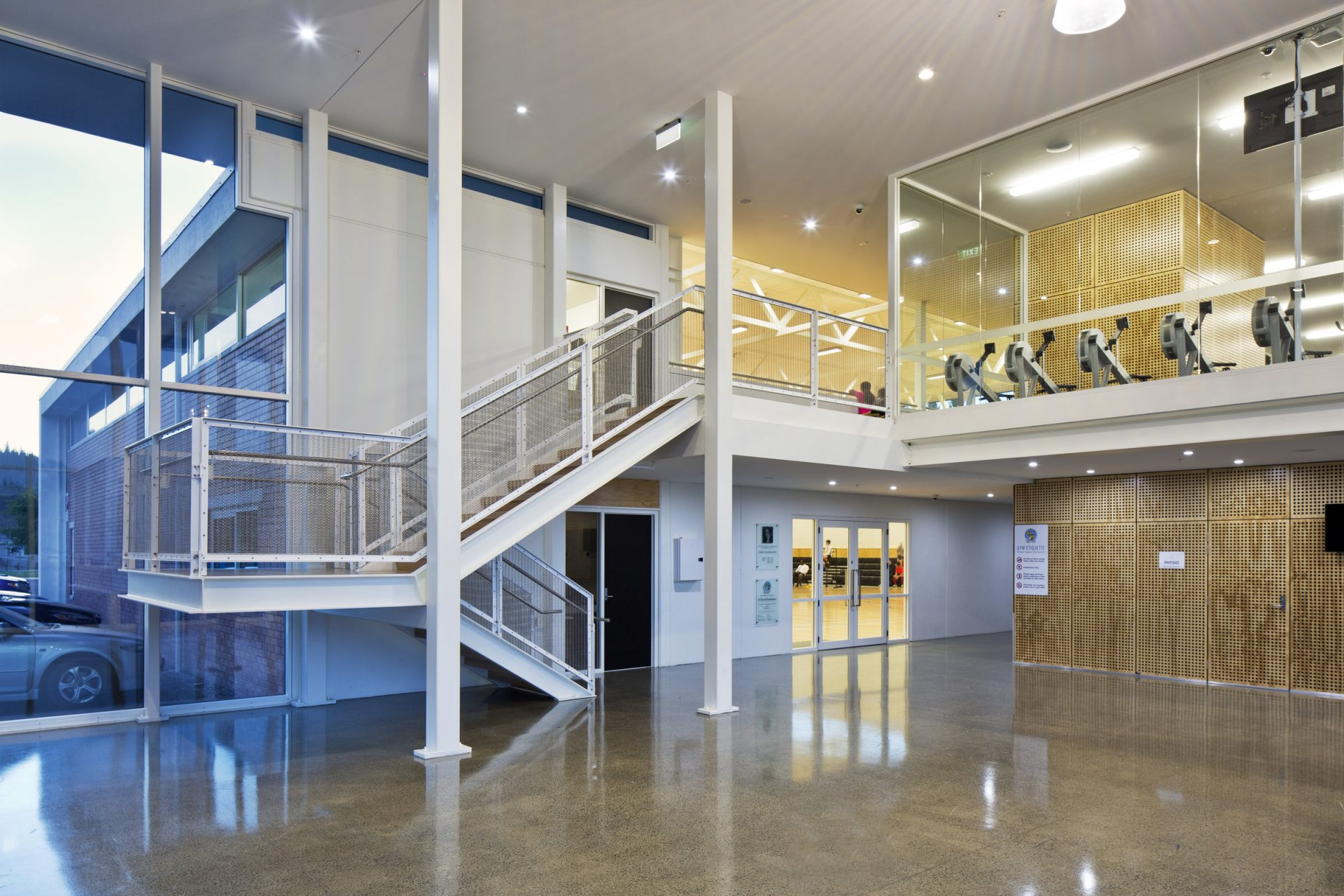 St Patrick's College Silverstream New Sports Hub_Entrance Lobby_ 6 of 6